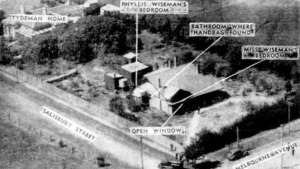 Aerial view of the crime scene of the Wiseman murders